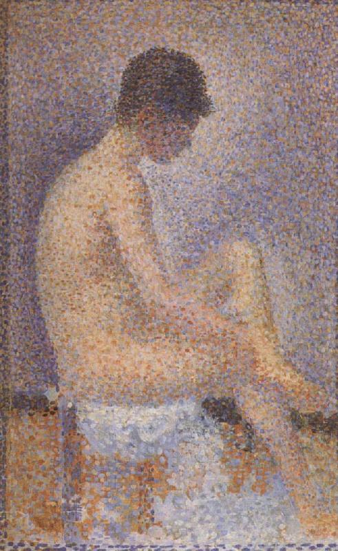 Georges Seurat Seated Female Nude