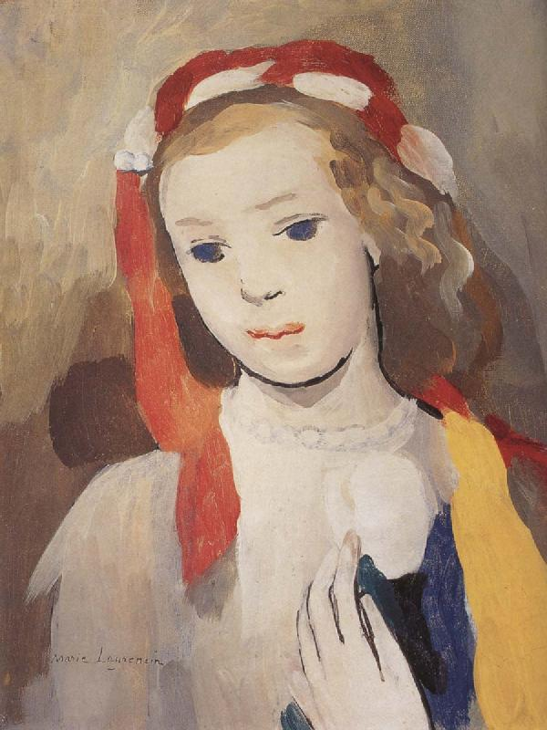 Marie Laurencin The Girl wearing the barrette