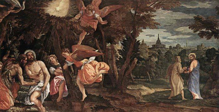 Paolo  Veronese Baptism and Temptation of Christ oil painting image