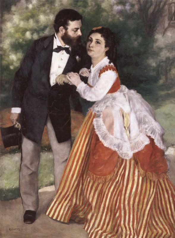 Pierre-Auguste Renoir Alfred Sisley and His wife oil painting image