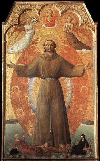 SASSETTA The Ecstasy of St Francis oil painting image