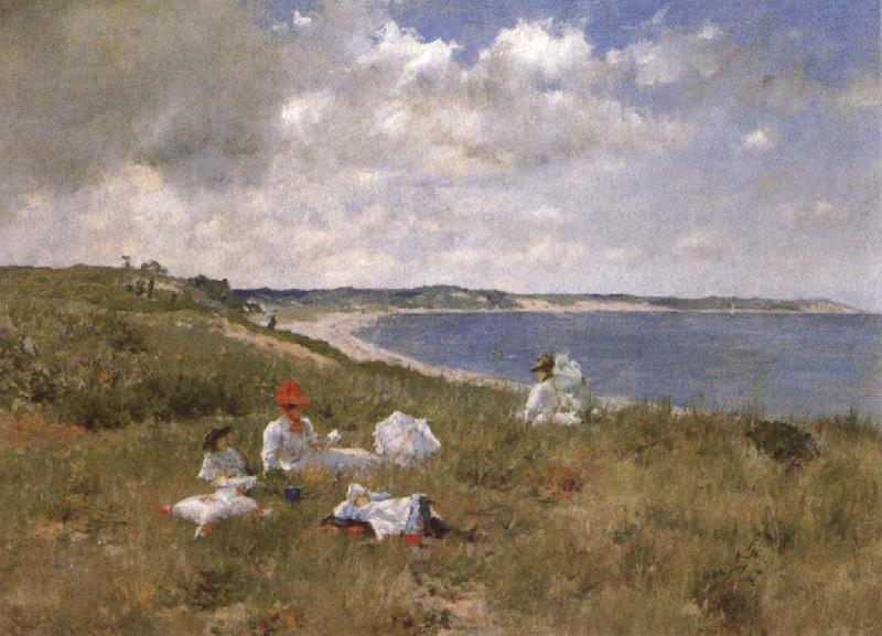 William Merrit Chase Idle Hours oil painting image