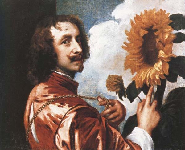 Anthony Van Dyck Self-Portrait with a Sunflower