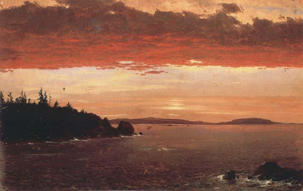 Frederic E.Church Schoodic Peninsula from Mount Desert at Sunrise oil painting image