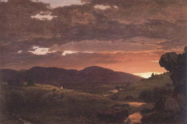 Frederic E.Church Twilight Short Arbiter Twixt Day and Night oil painting image