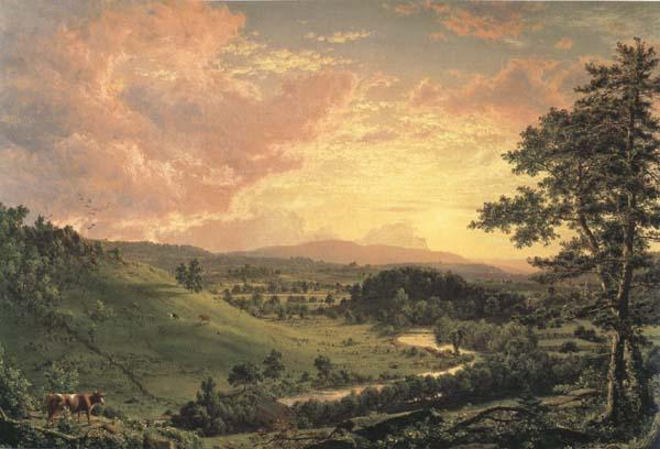 Frederic Edwin Church View near Stockridge oil painting image