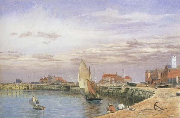 John brett,ARA View at Great Yarmouth (mk46) oil painting image