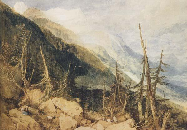 Joseph Mallord William Truner Montanvert,Valley of Chamouni (mk47) oil painting image