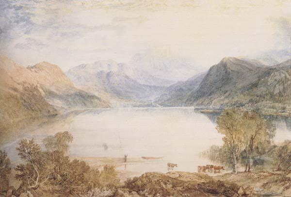 Joseph Mallord William Truner Ullswater from Gowbarrow Park Walter Fawkes Gallery(mk47) oil painting image