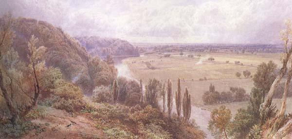 Myles Birket Foster,RWS The Thames from Cliveden (mk46) oil painting image