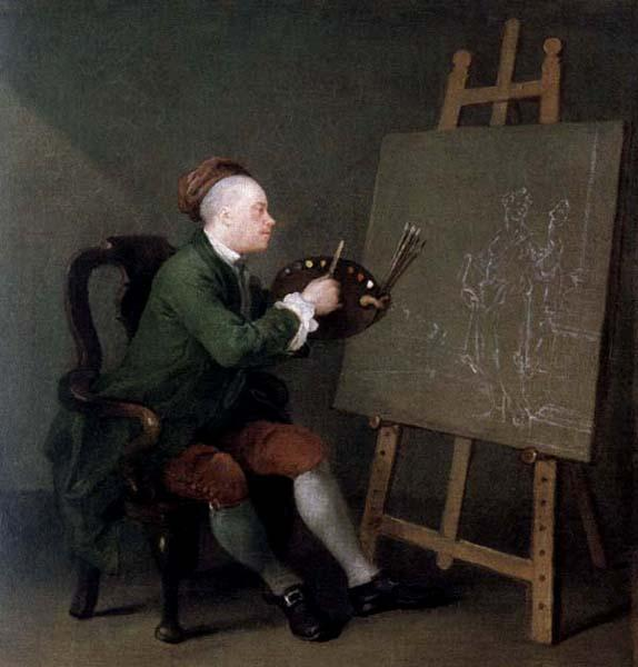 William Hogarth Hogarth Painting the Comic Muse oil painting image