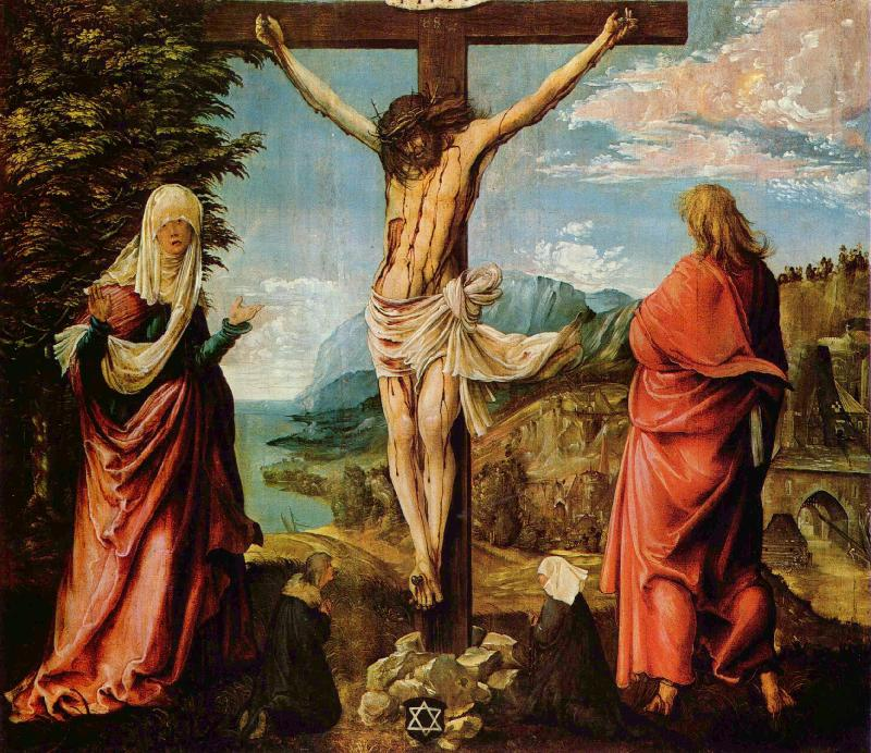 Albrecht Altdorfer Crucifixion oil painting image