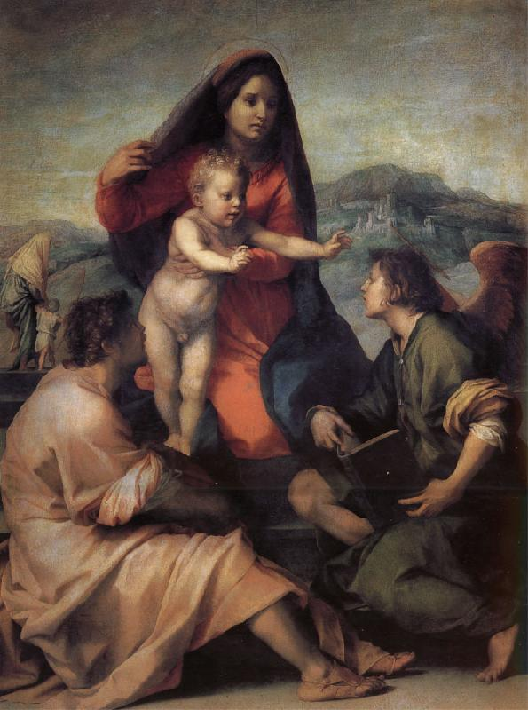 Andrea del Sarto Holy Family with Angels