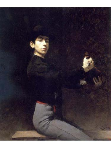 Ramon Casas i Carbo Self portrait as a flamenco dancer oil painting image