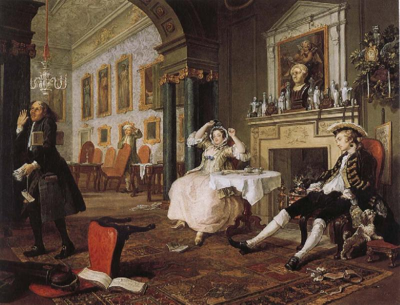 William Hogarth fashionable marriage - breakfast scene oil painting image