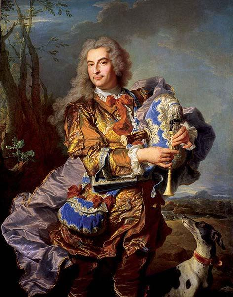 Hyacinthe Rigaud Gaspard de Gueidan playing the musette