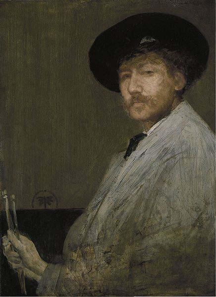 James Abbott Mcneill Whistler Arrangement in Gray Portrait of the Painter oil painting image