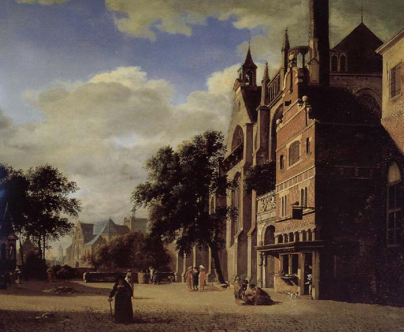 Jan van der Heyden Gothic churches