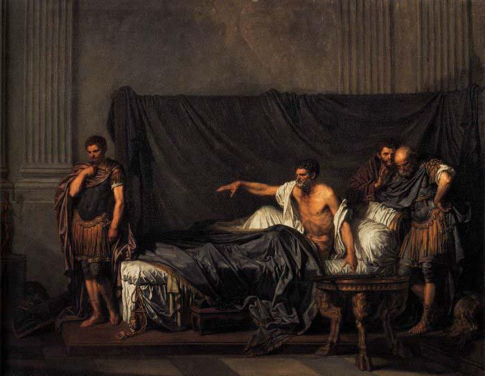 Jean Baptiste Greuze Septimius Severus and Caracalla oil painting image