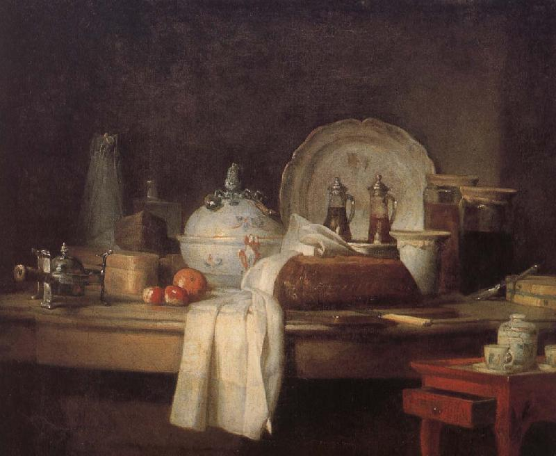 Jean Baptiste Simeon Chardin Housekeeper s kitchen table