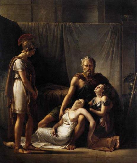 KINSOEN, Francois Joseph The Death of Belisarius' Wife oil painting image