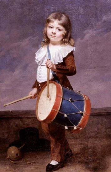 Martin  Drolling Portrait of the Artist's Son as a Drummer oil painting image