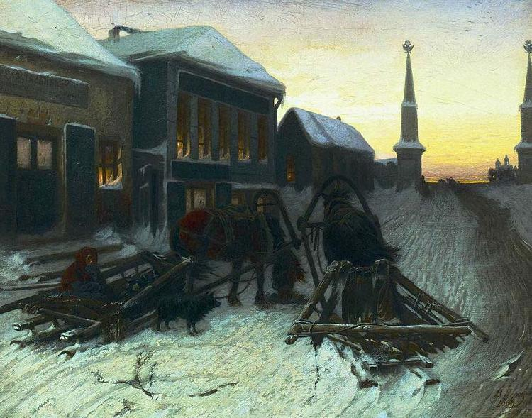 Vasily Perov The last tavern at the city gates