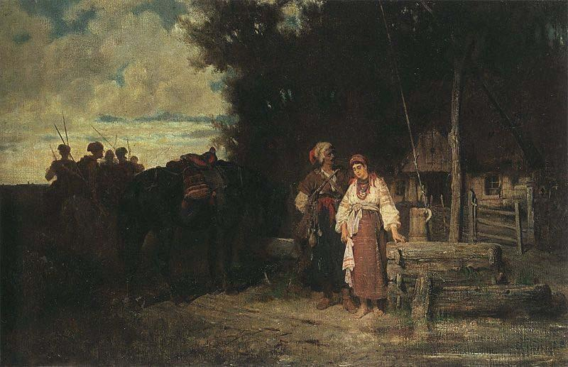 jozef brandt Farewell oil painting image