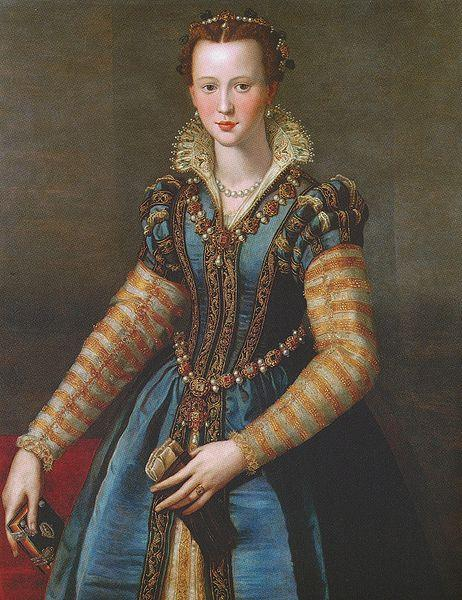 Alessandro Allori Portrait of Eleonora oil painting image