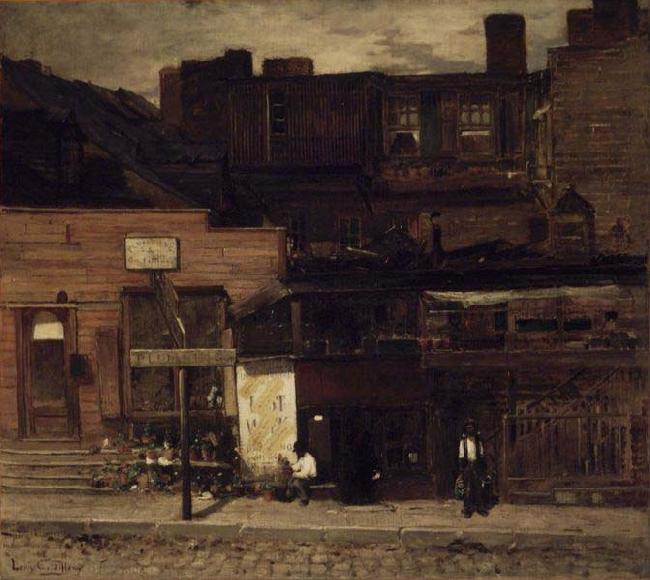 Louis Comfort Tiffany Duane Street, New York oil painting image