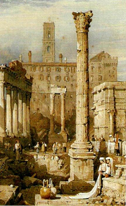 Samuel Prout rome the forum oil painting image