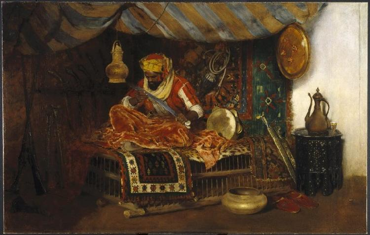 William Merrit Chase Moorish Warrior oil painting image