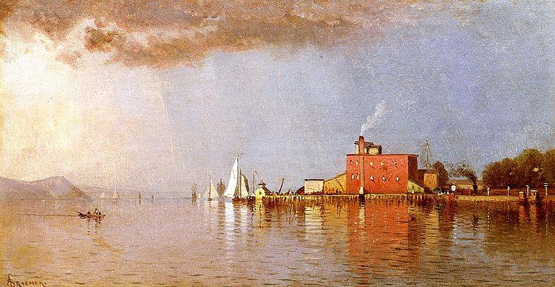 Alfred Thompson Bricher Along the Hudson oil painting image