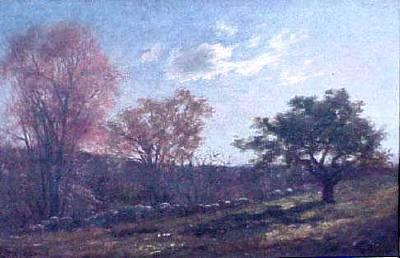 Charles Furneaux Landscape with a Stone Wall
