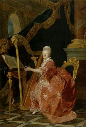Etienne Aubry Victoire de France playing her harp