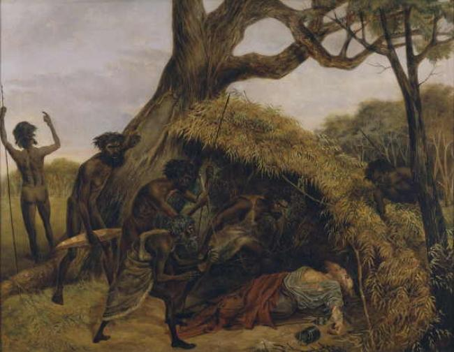 Evans, De Scott Natives discovering the body of William John Wills oil painting image
