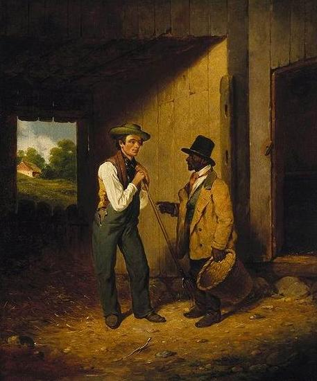 Francis William Edmonds All Talk and No Work oil painting image
