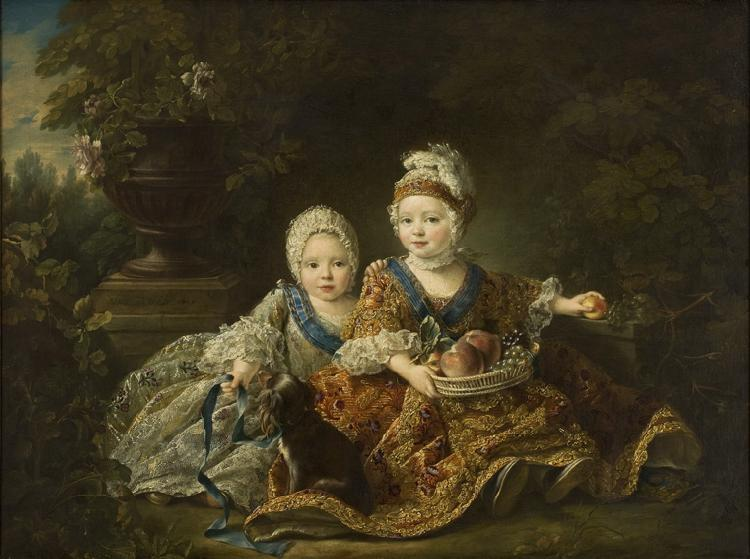 Francois-Hubert Drouais The Duke of Berry and the Count of Provence at the Time of Their Childhood