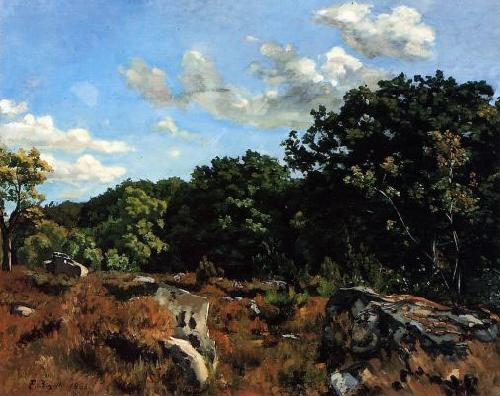 Frederic Bazille Landscape at Chailly oil painting image