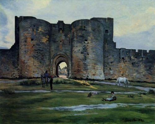Frederic Bazille Queens Gate at Aigues-Mortes oil painting image