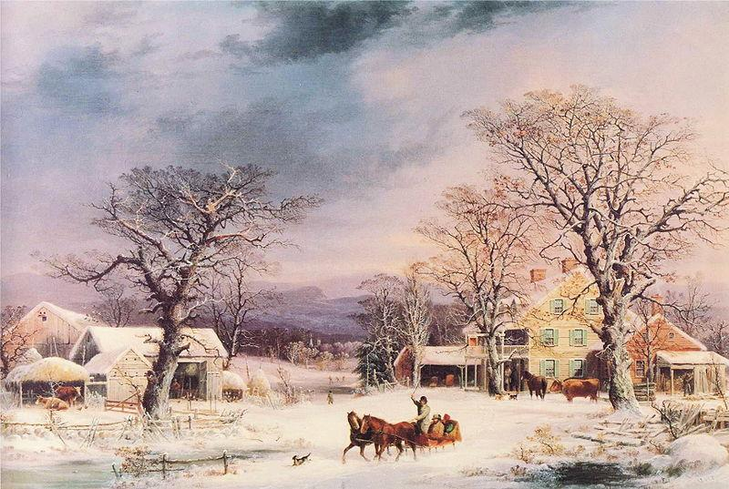 George Henry Durrie he Half-Way House oil painting image