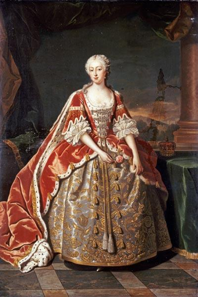 Jean Baptiste van Loo Portrait of Augusta of Saxe-Gotha oil painting image