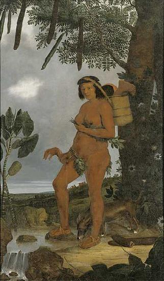 Albert Eckhout Tapuia woman oil painting image