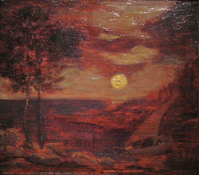 Albert Pinkham Ryder The Lovers' Boat oil painting image