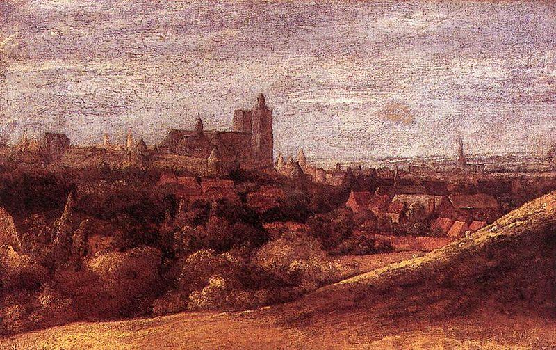 Hercules Seghers View of Brussels from the North-East oil painting image