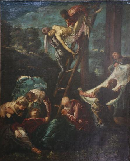 Jacopo Tintoretto The descent from the Cross