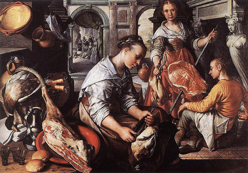 Joachim Beuckelaer Christ in the House of Martha and Mary oil painting image