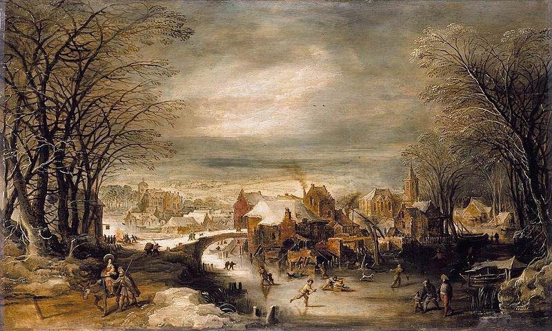Joos de Momper Winter Landscape with The Flight into Egypt oil painting image