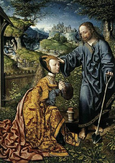 Oostsanen, Jacob Cornelisz van Christ Appearing to Mary Magdalen as a Gardener oil painting image