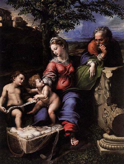RAFFAELLO Sanzio Holy Family below the Oak